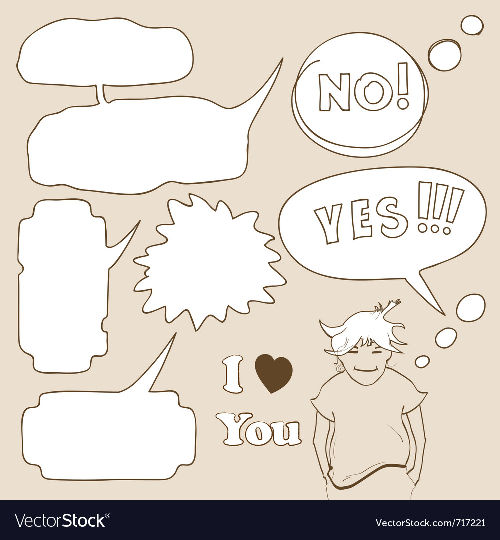 Cartoon speech bubbles vector | Price: 1 Credit (USD $1)