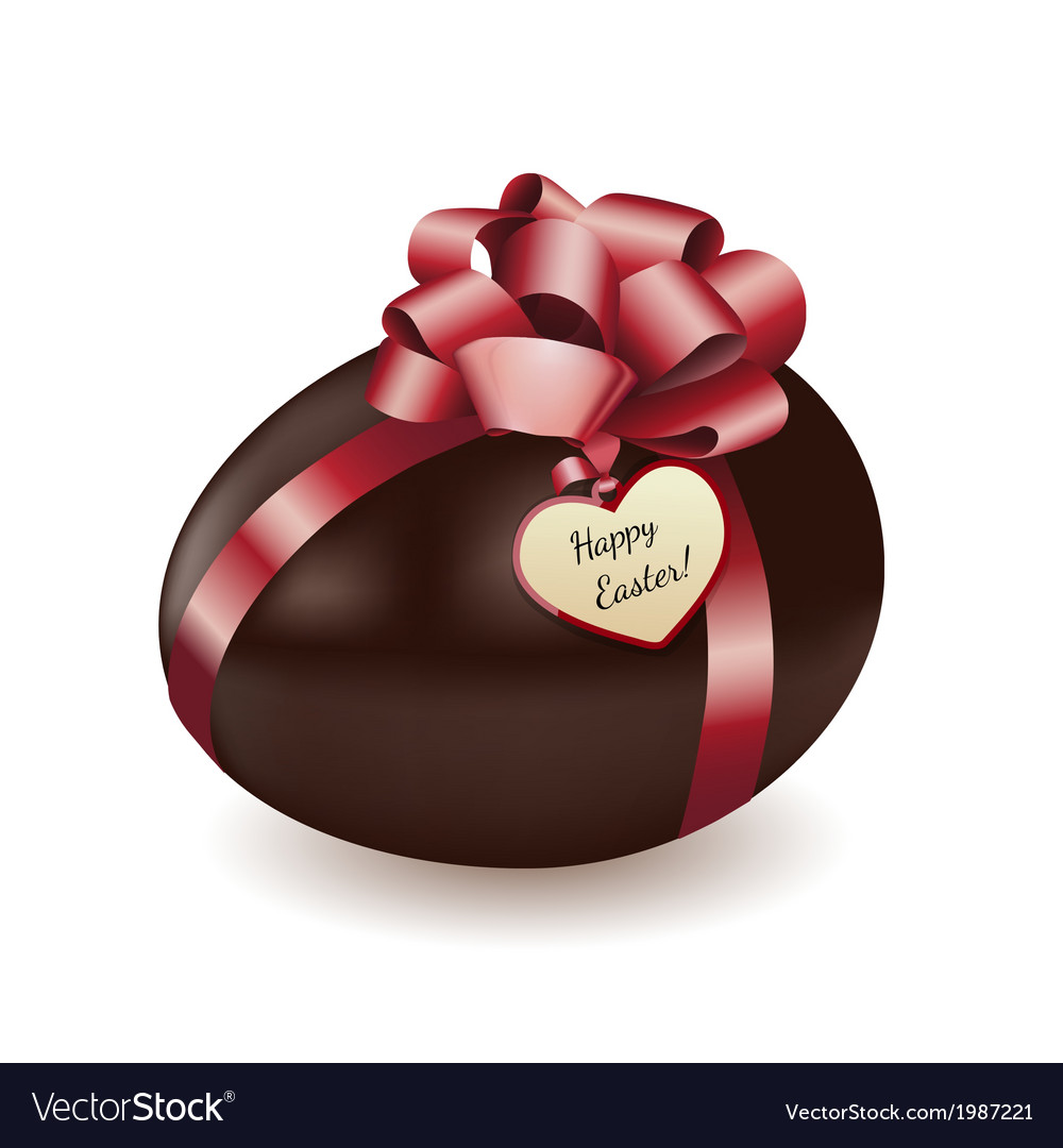 Chocolate egg with greeting card vector | Price: 1 Credit (USD $1)