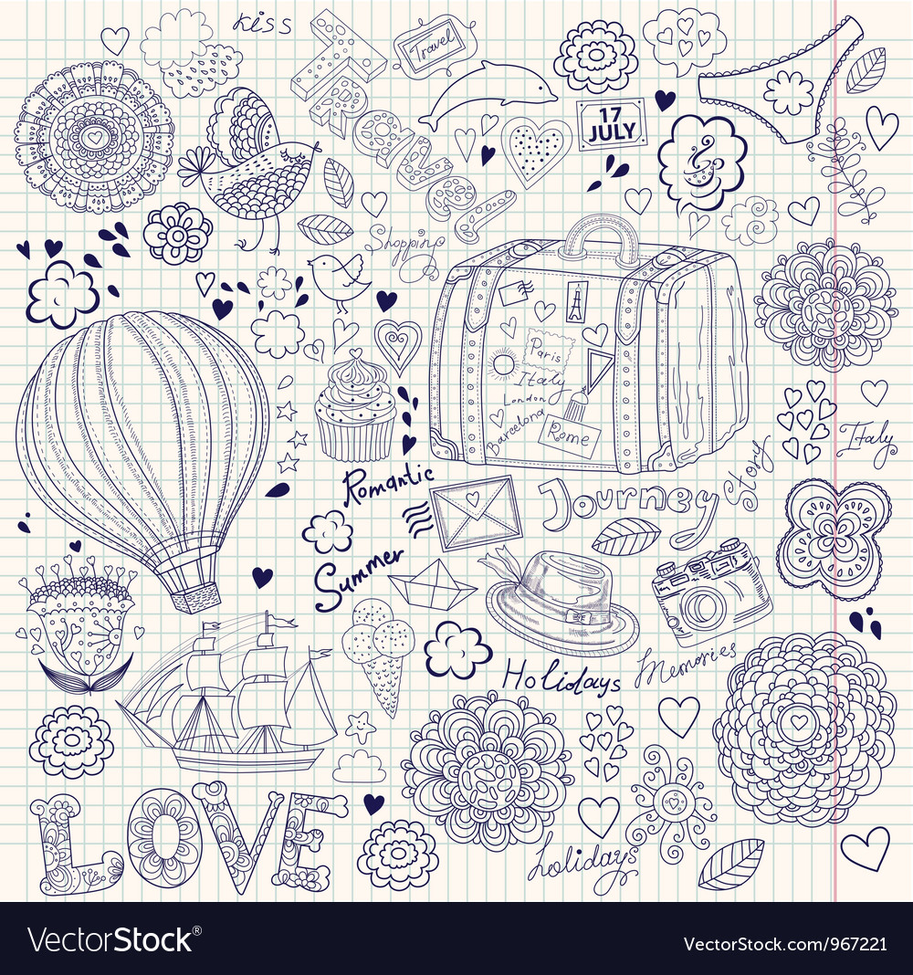 Decorative doodle background vector | Price: 3 Credit (USD $3)