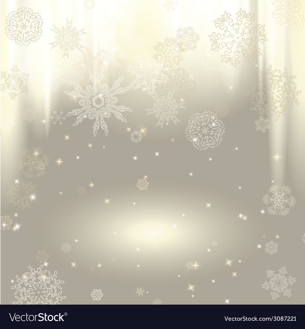 New year background with snowflakes vector | Price: 1 Credit (USD $1)