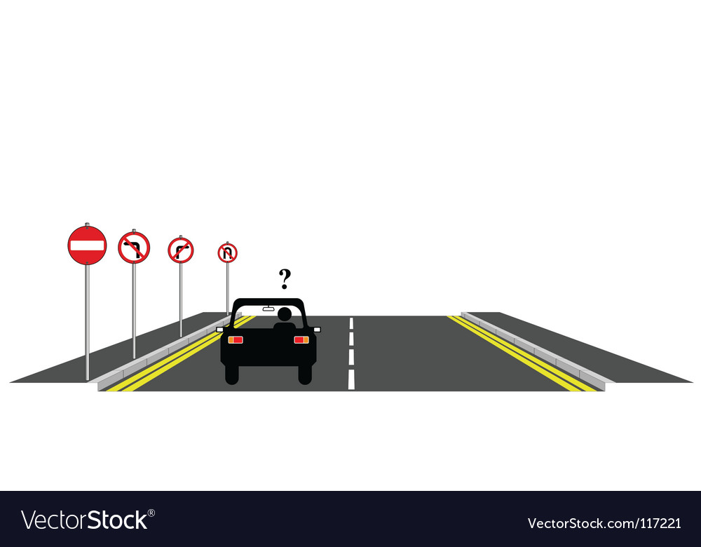 Road confusion vector | Price: 1 Credit (USD $1)