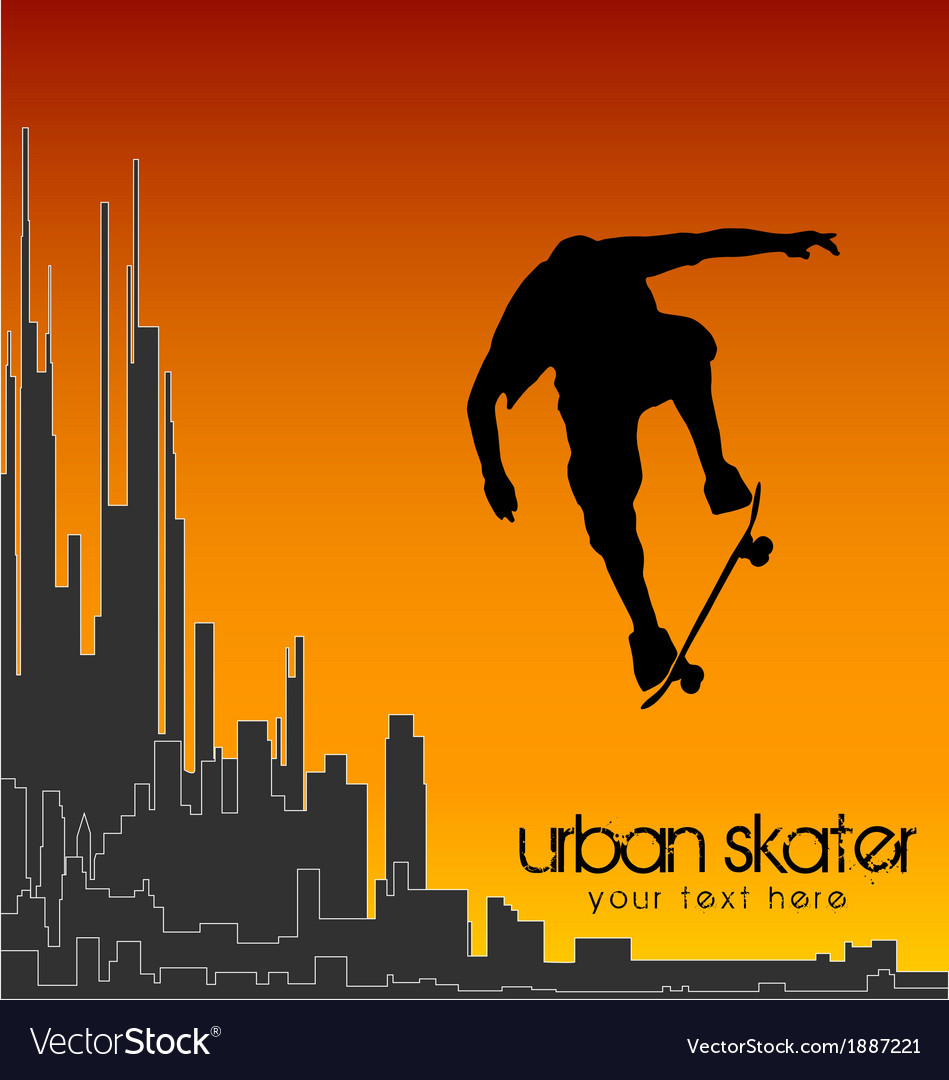 Urban skater vector | Price: 1 Credit (USD $1)