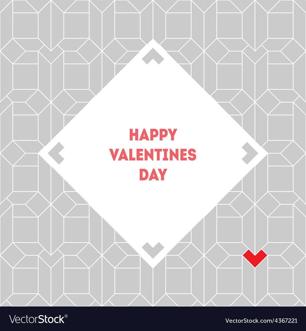Valentines day vintage card with abstract vector   Price: 1 Credit (USD $1)