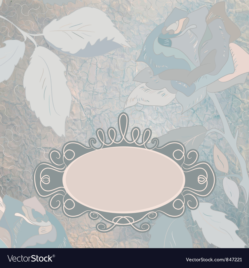 Vintage roses background vector   Price: 1 Credit (USD $1)