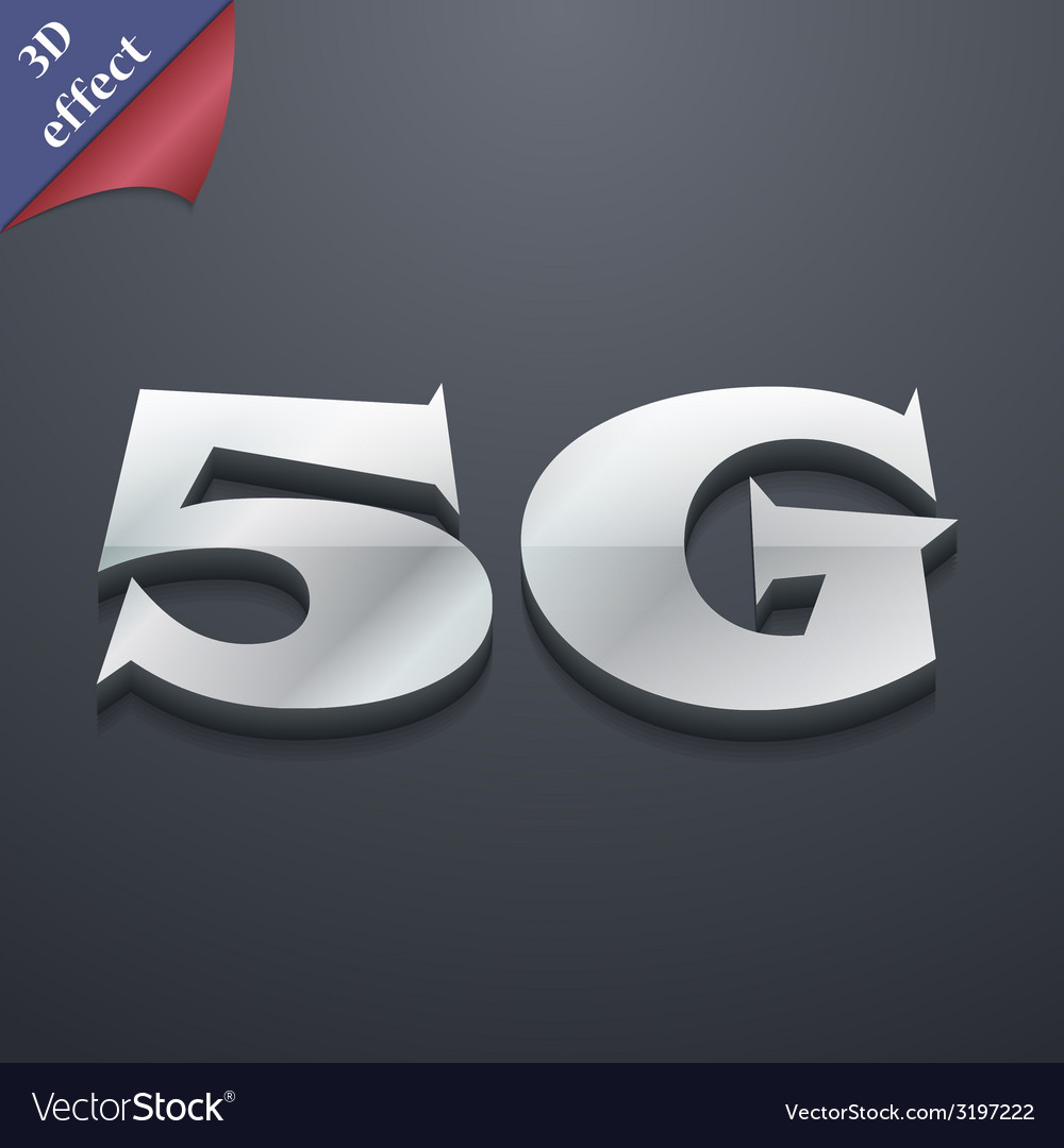 5g icon symbol 3d style trendy modern design with vector | Price: 1 Credit (USD $1)