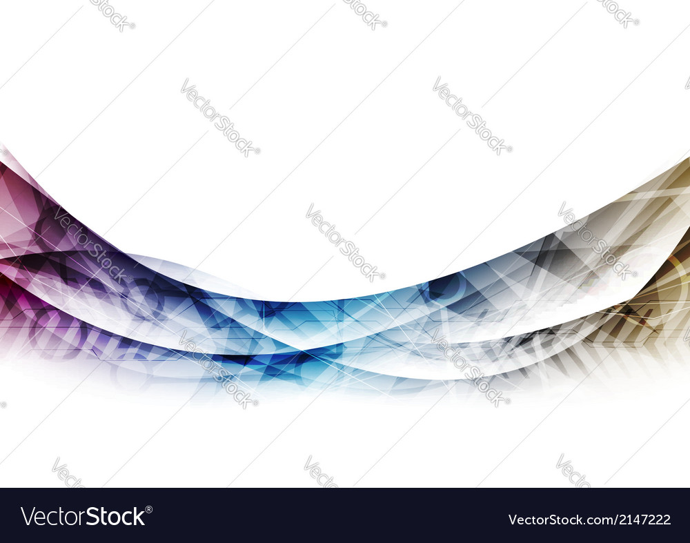 Abstract waves swoosh lines technology background vector | Price: 1 Credit (USD $1)