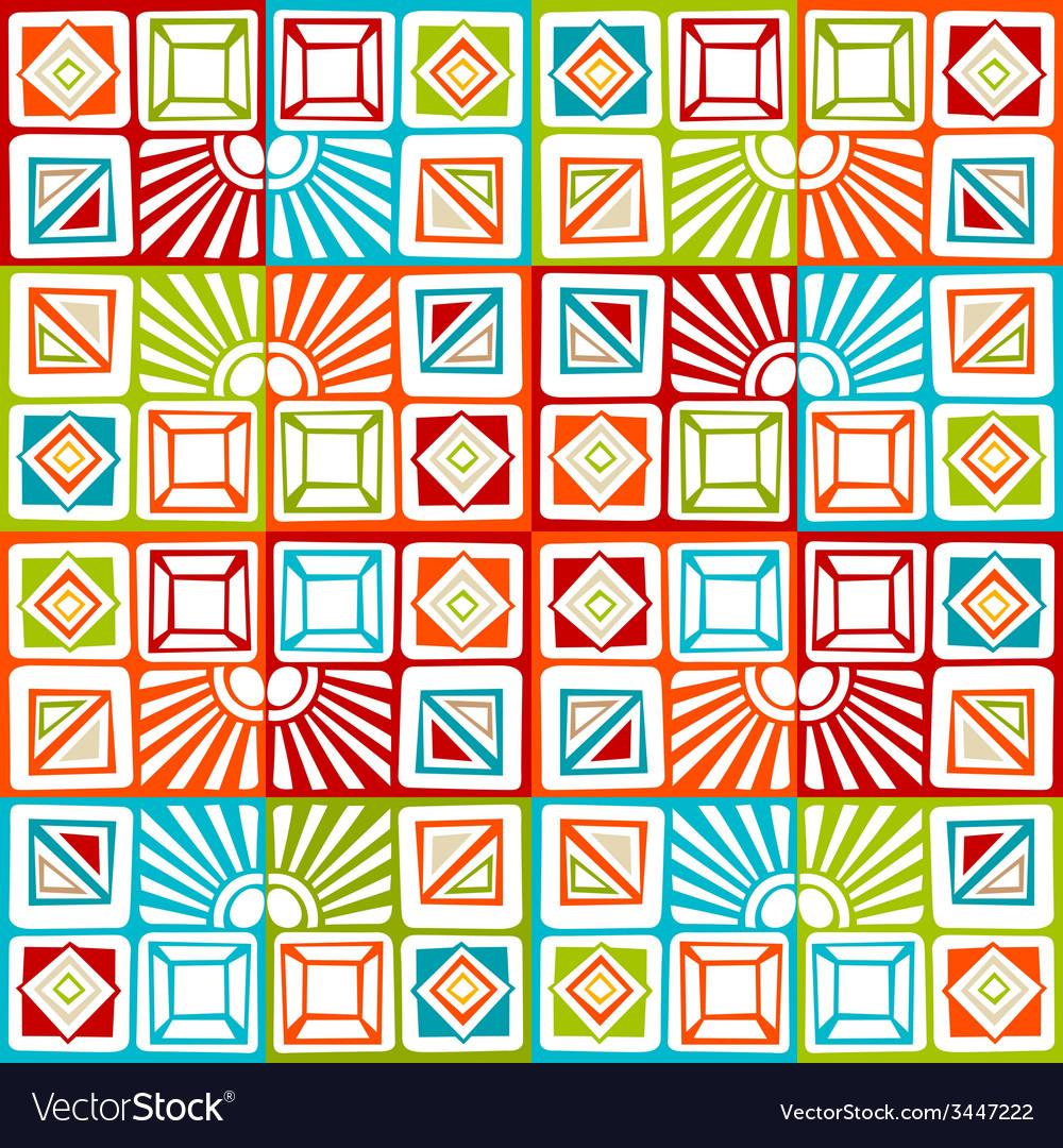Bright seamless geometric pattern vector | Price: 1 Credit (USD $1)