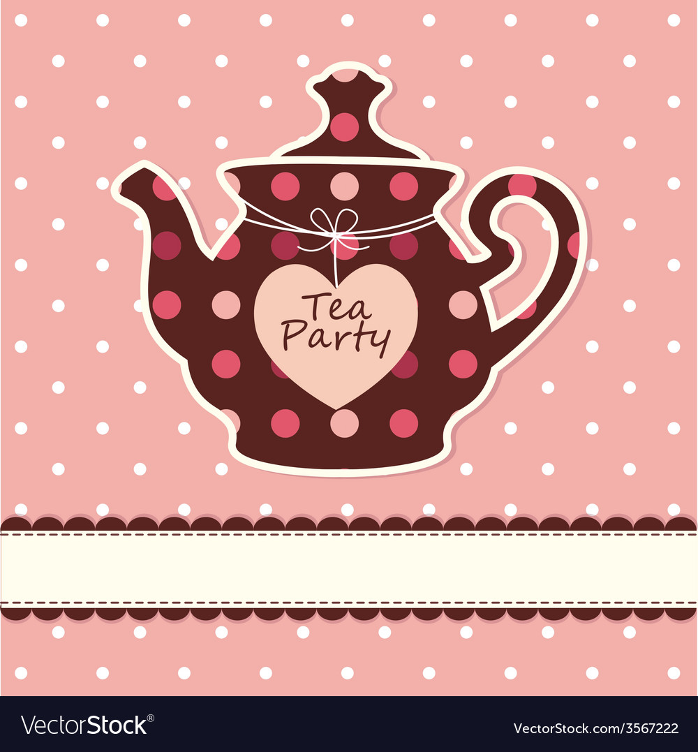 Card with teapot vector | Price: 1 Credit (USD $1)