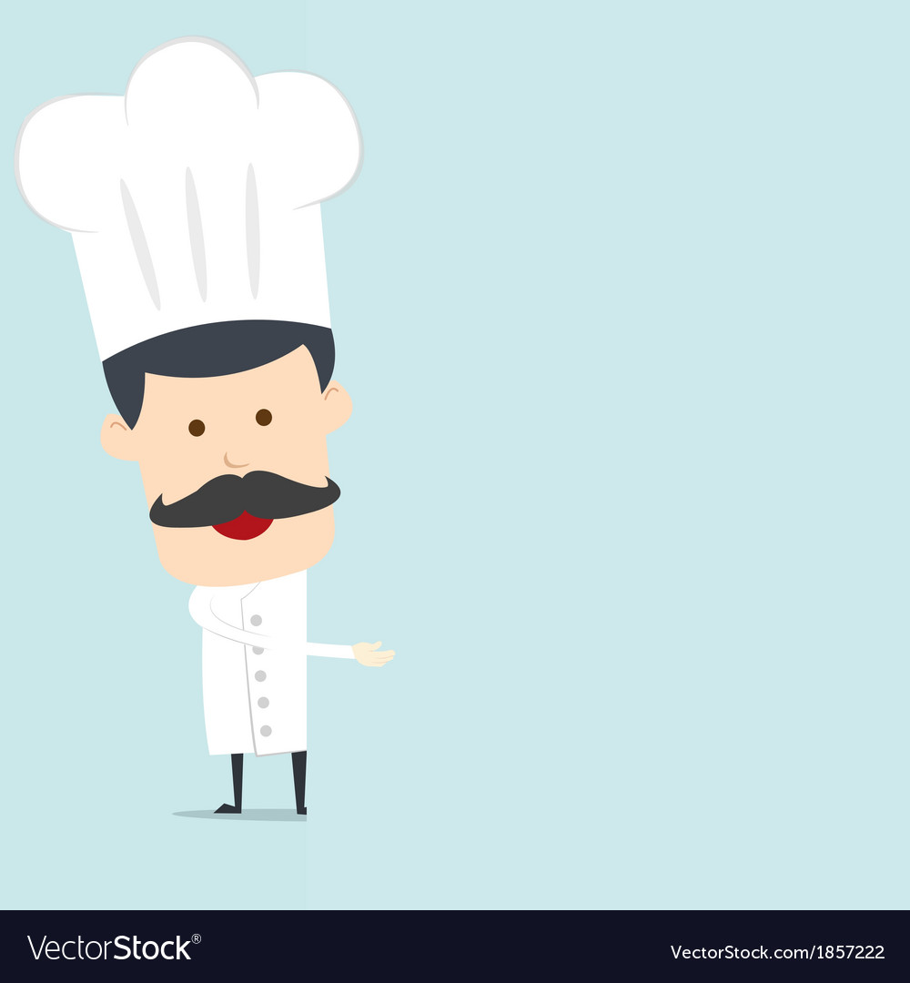Chef hold blank board for use in advertising vector   Price: 1 Credit (USD $1)