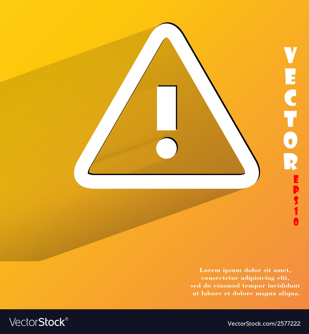 Danger exclamation mark flat modern web button vector   Price: 1 Credit (USD $1)
