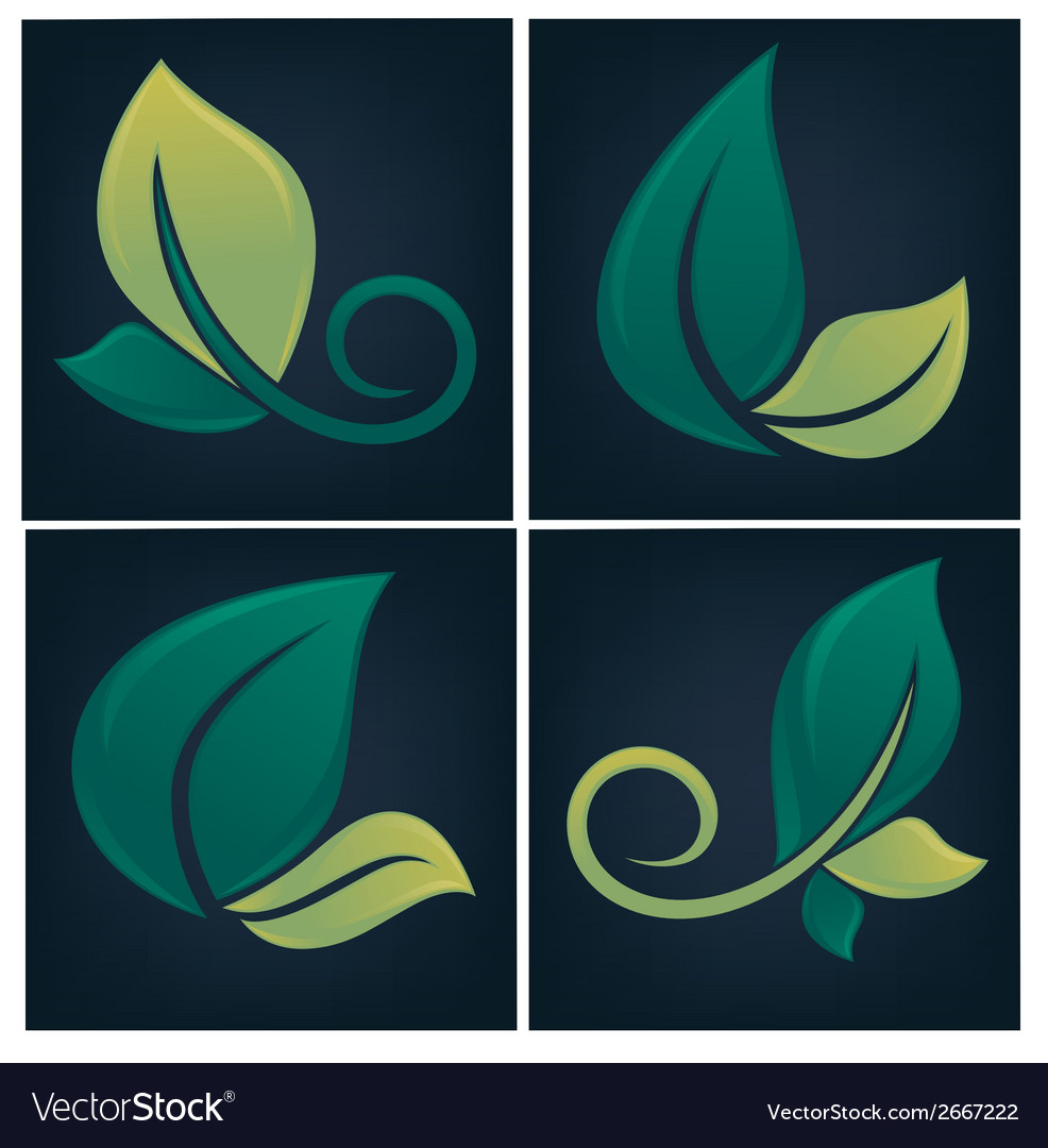 Eco symbols vector | Price: 1 Credit (USD $1)