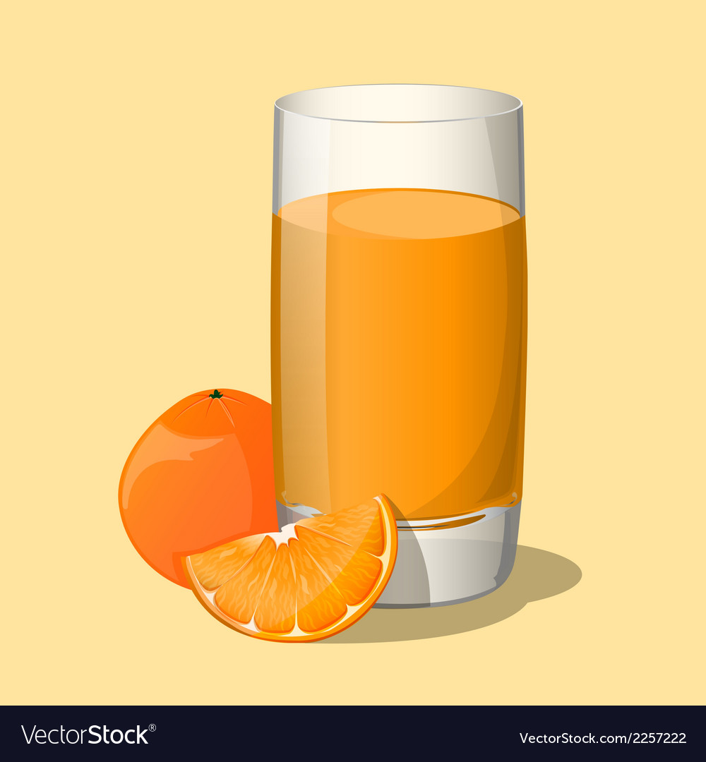 Full glass of orange juice vector | Price: 1 Credit (USD $1)