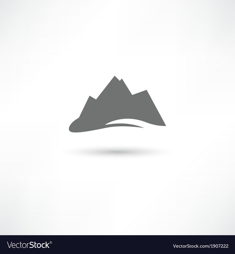 Grey mountains symbol vector | Price: 1 Credit (USD $1)