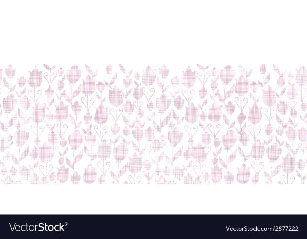 Pink textile tulips texture horizontal seamless vector   Price: 1 Credit (USD $1)