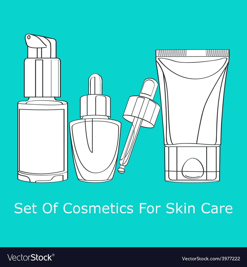 Set of cosmetics for skin care vector | Price: 1 Credit (USD $1)