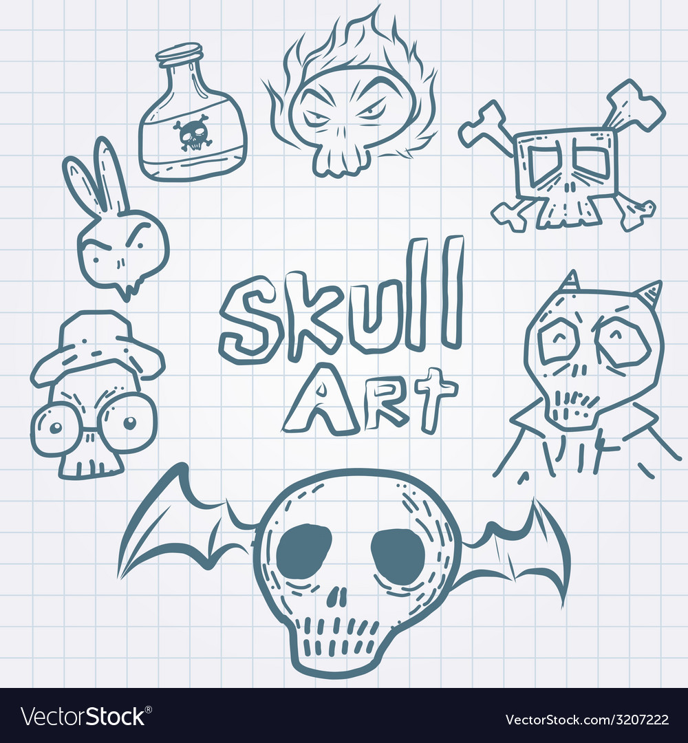 Skulldoodles vector | Price: 1 Credit (USD $1)
