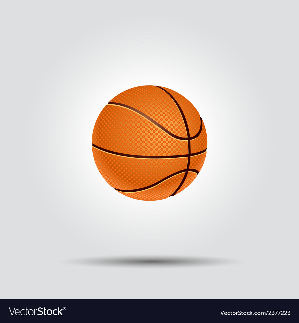 Basketball ball isolated on white with shadow vector | Price: 1 Credit (USD $1)