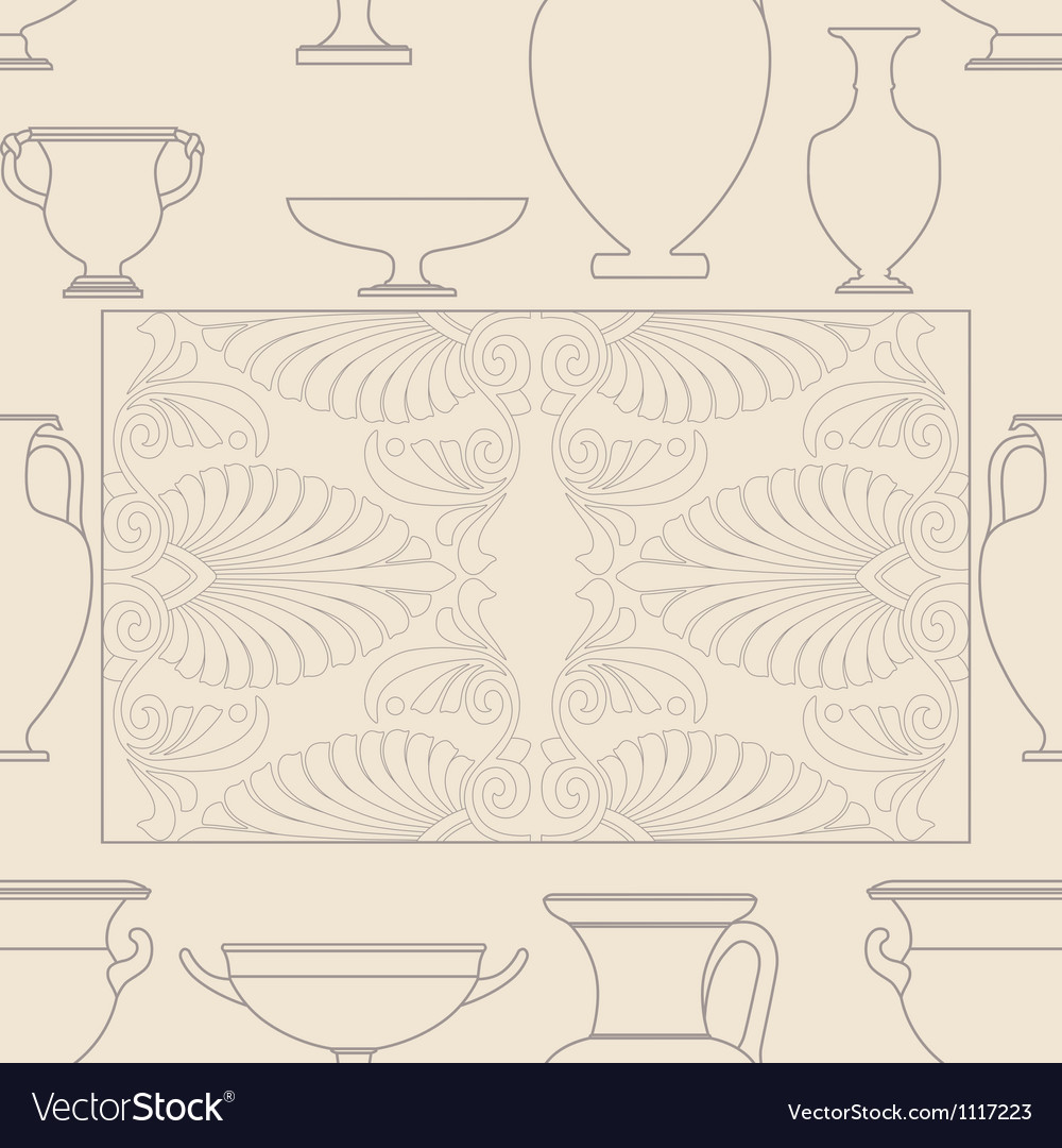 Ceramic ethnic national greek style seamless vector | Price: 1 Credit (USD $1)