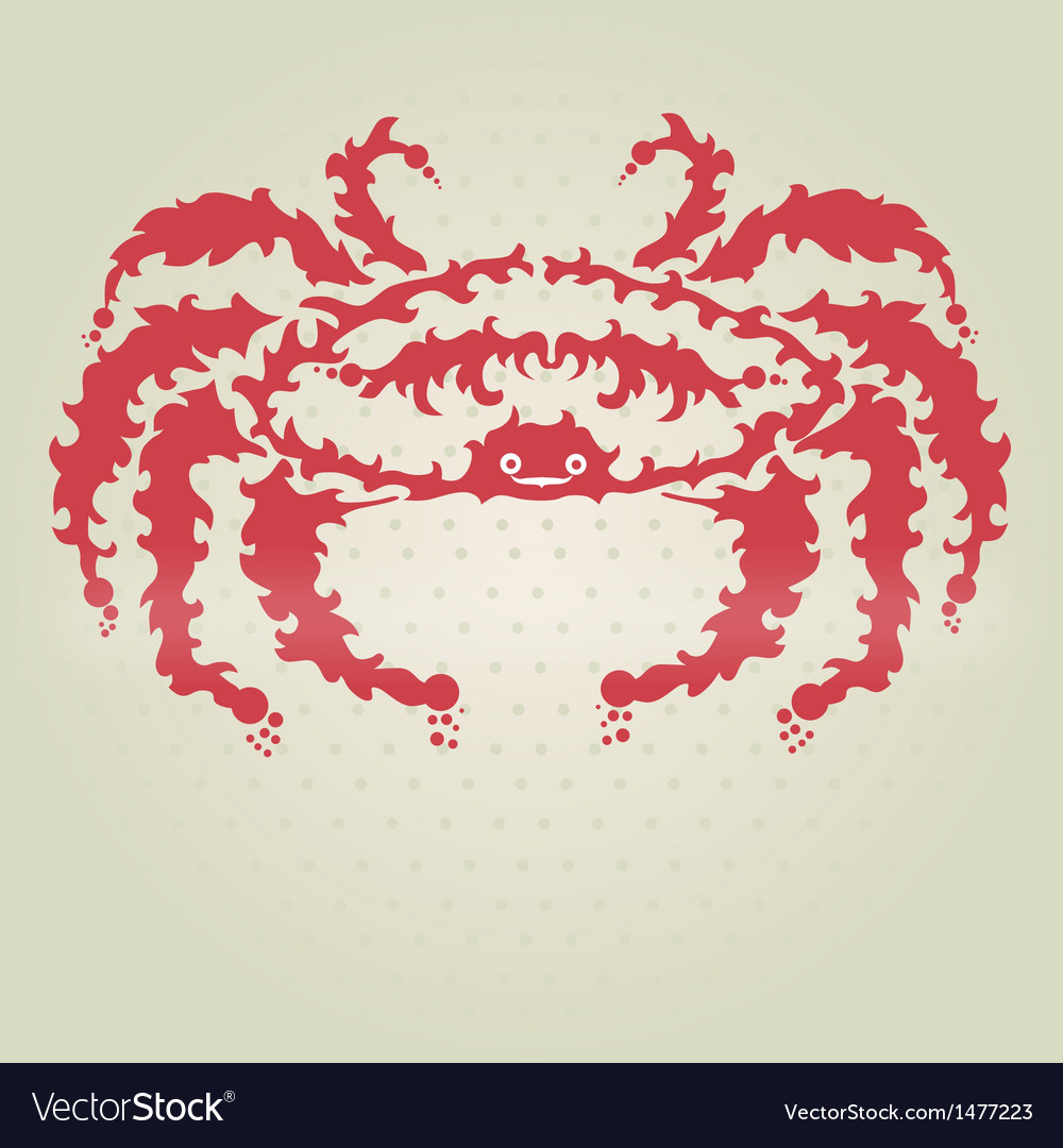 Decorative crab vector | Price: 1 Credit (USD $1)