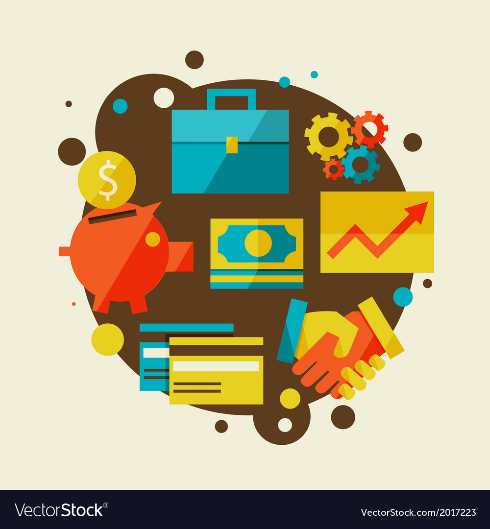 Finance and business concept vector   Price: 1 Credit (USD $1)