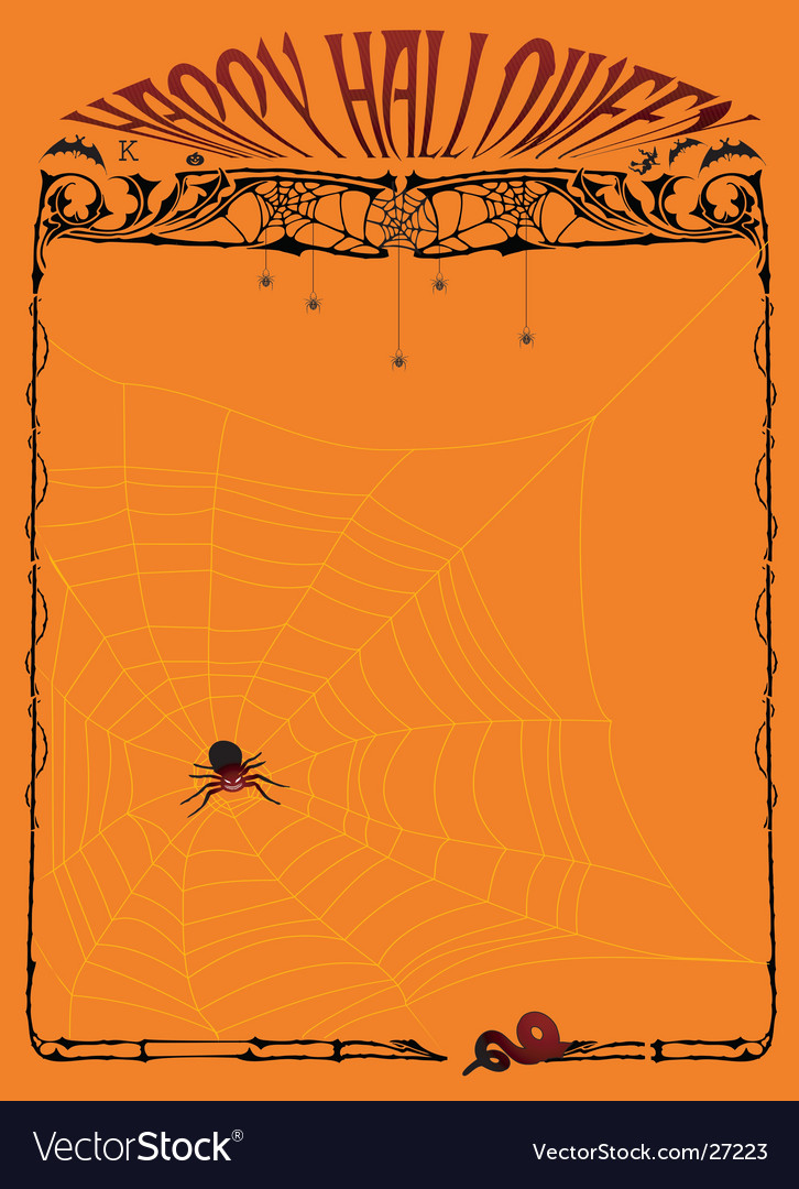 Halloween page vector | Price: 1 Credit (USD $1)