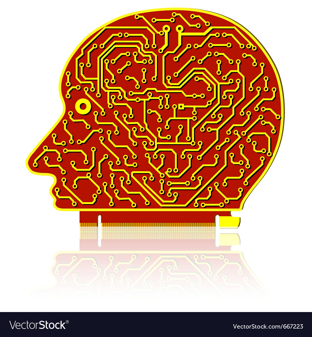 High tech circuit board vector | Price: 1 Credit (USD $1)