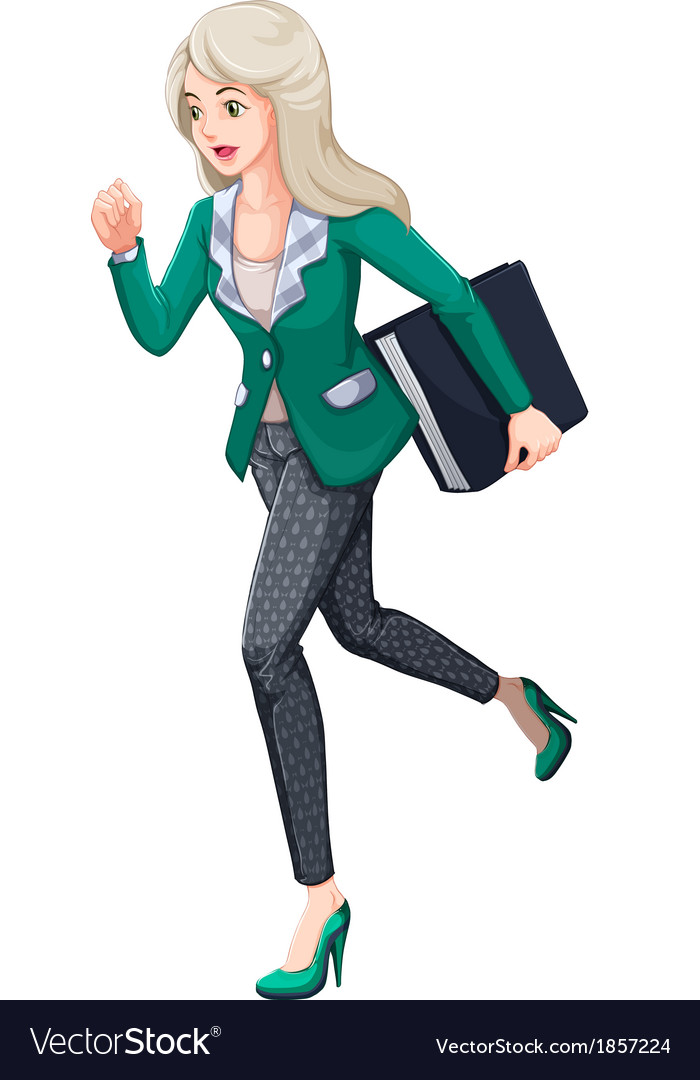A busy businesswoman vector | Price: 1 Credit (USD $1)
