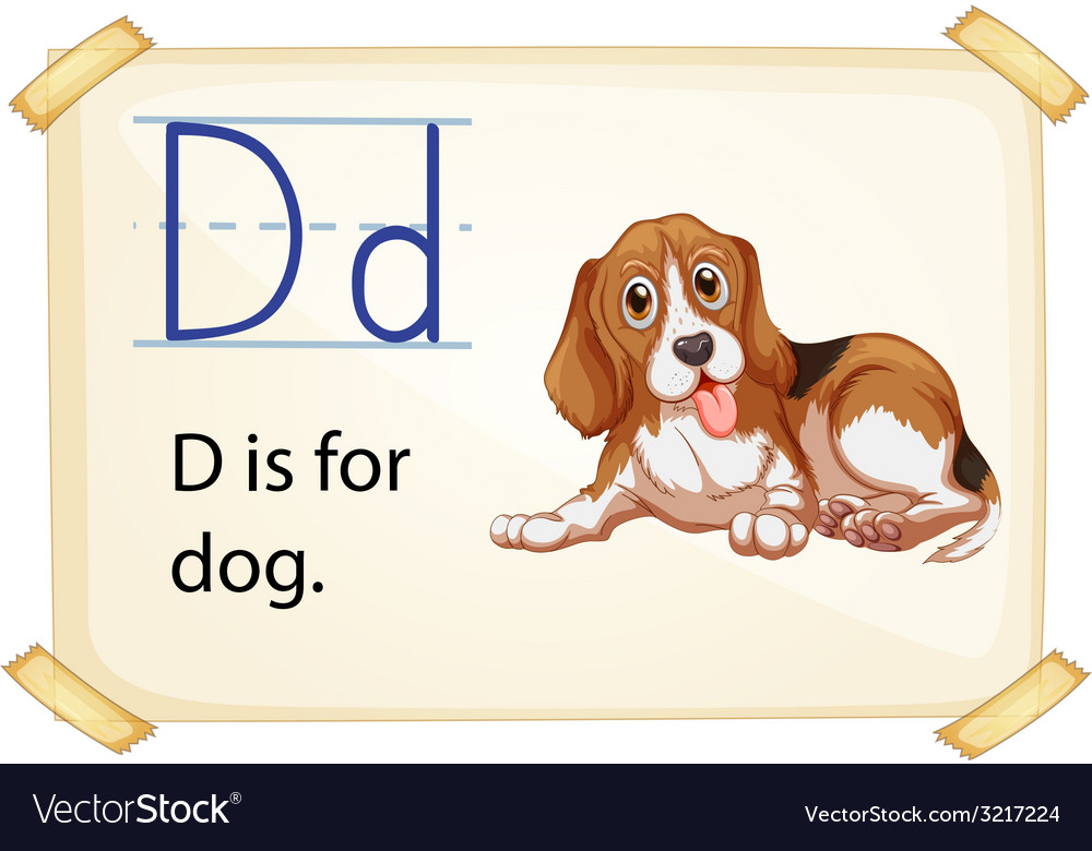 Alphabet d vector | Price: 1 Credit (USD $1)