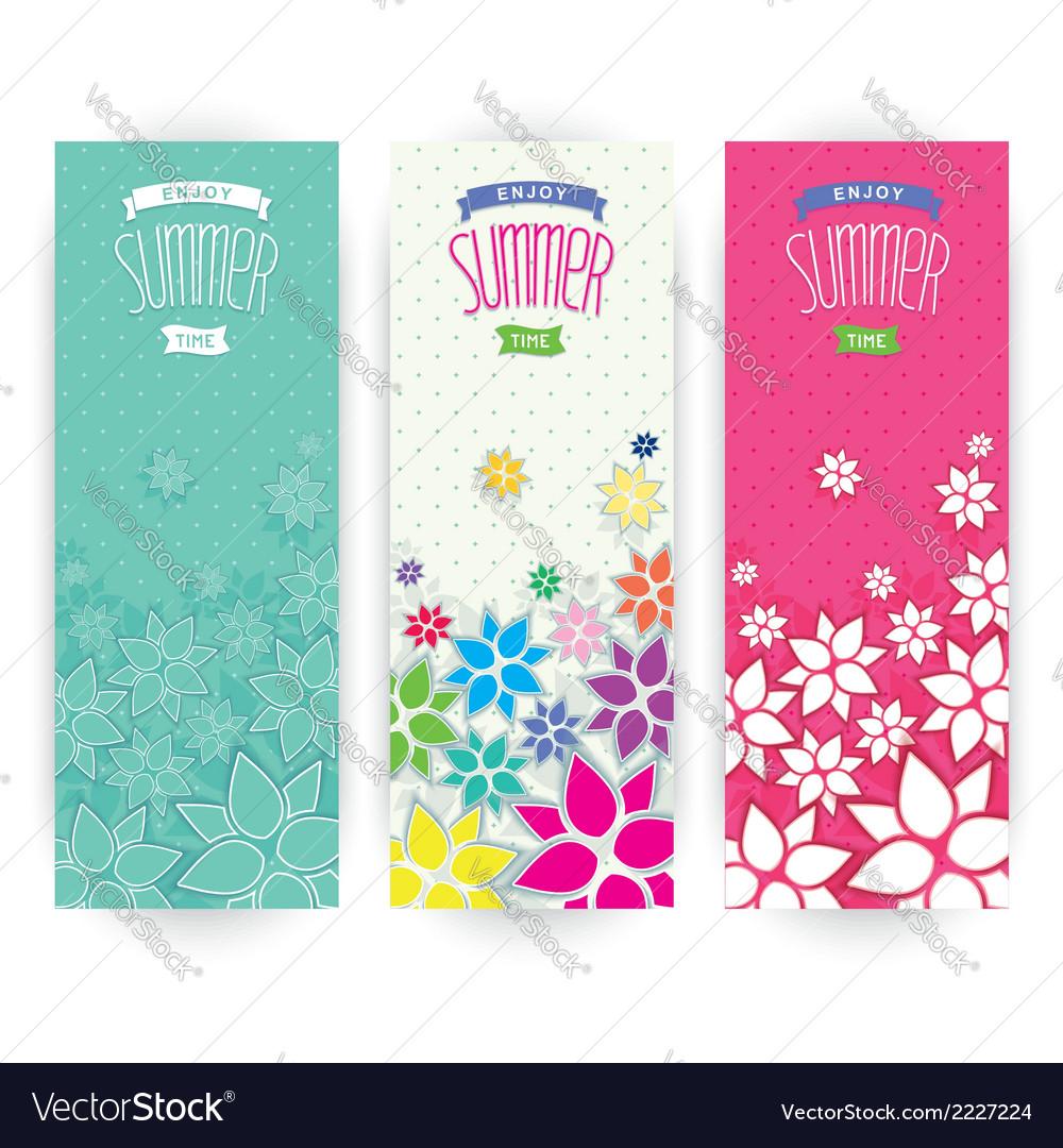 Bright flowers summer design vector | Price: 1 Credit (USD $1)