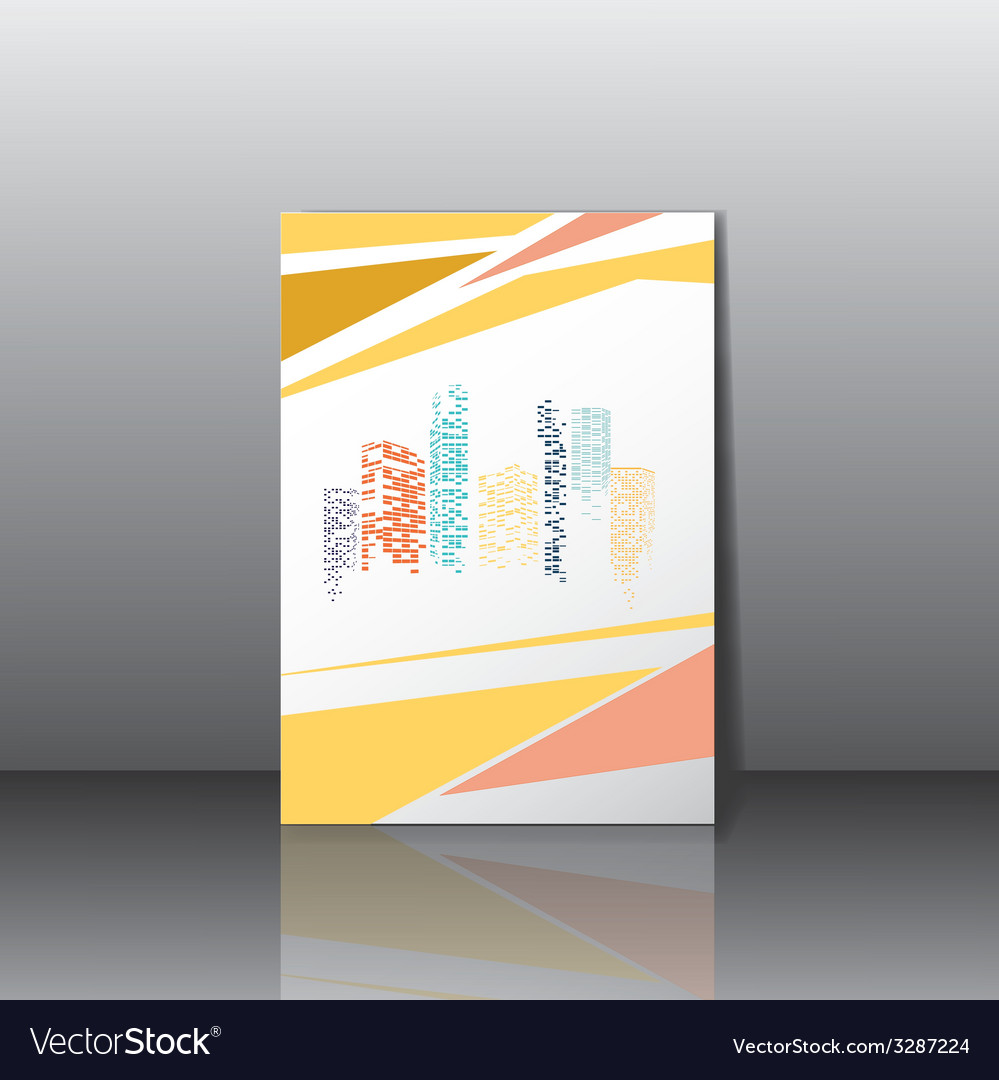 City panorama business card vector | Price: 1 Credit (USD $1)