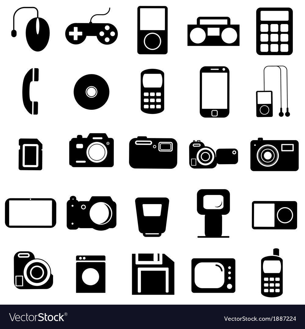 Collection flat icons multimedia symbols vector | Price: 1 Credit (USD $1)