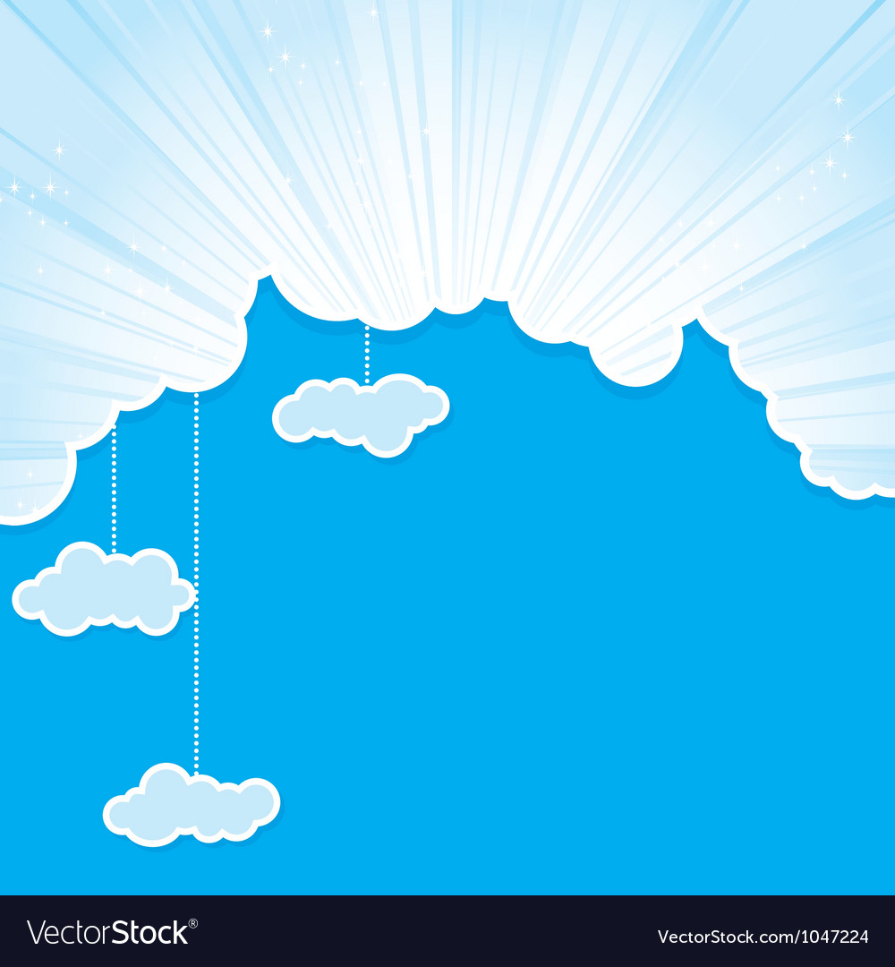 Cut sky cloud cyan vector | Price: 1 Credit (USD $1)