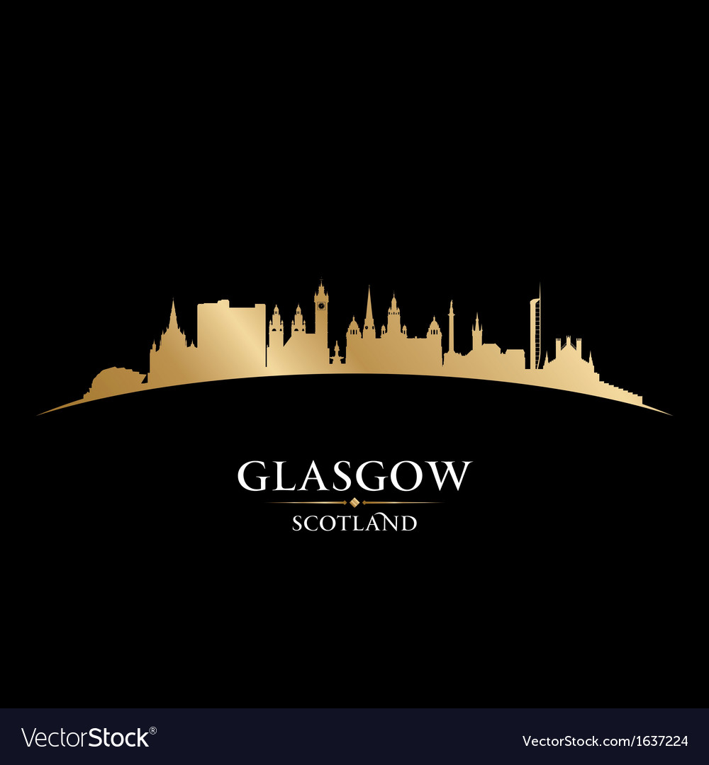 Glasgow scotland city skyline silhouette vector | Price: 1 Credit (USD $1)