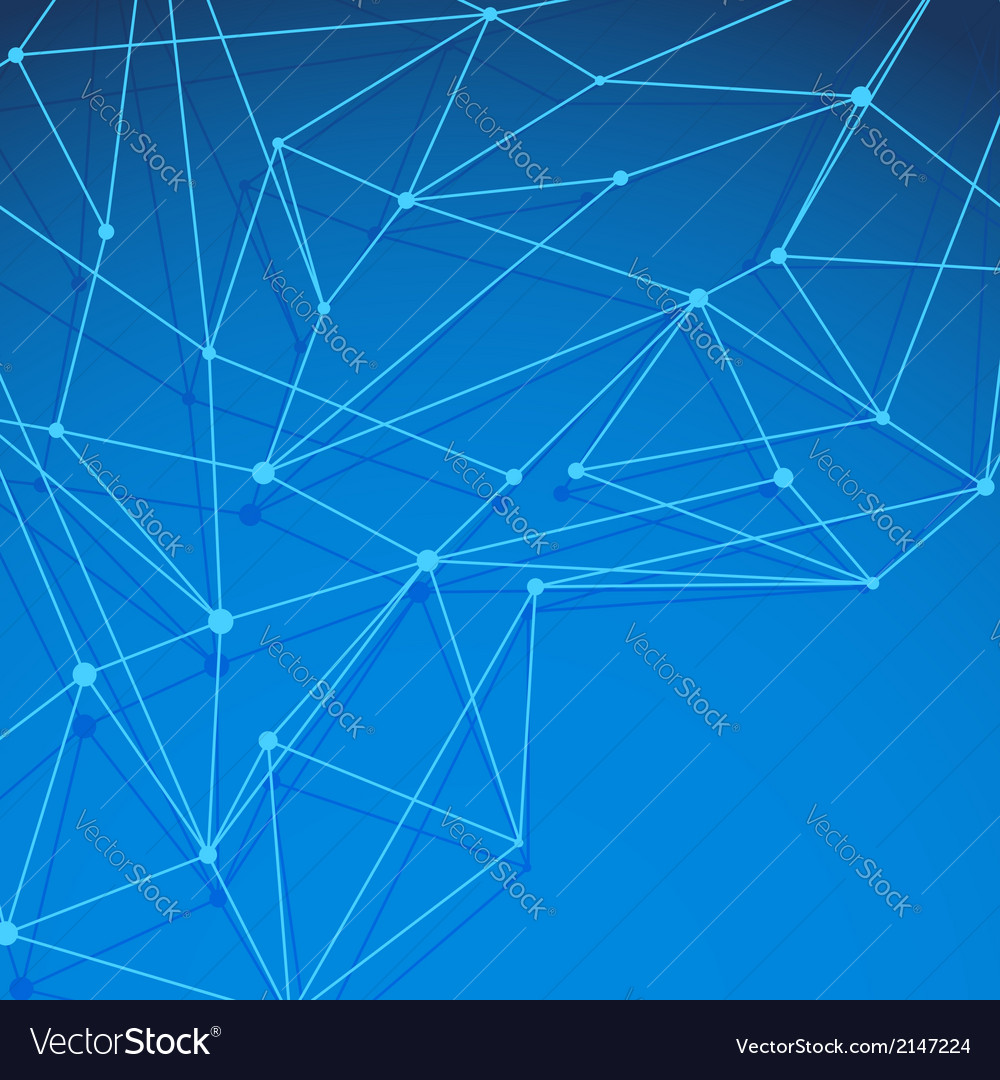 Modern blue molecule background layered vector | Price: 1 Credit (USD $1)