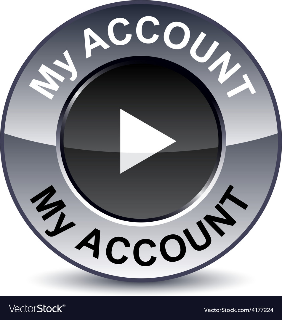 My account round button vector | Price: 1 Credit (USD $1)