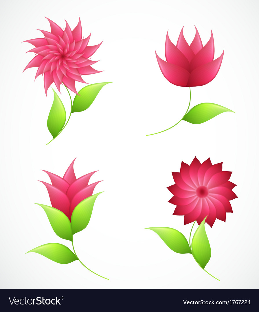 Nature flowers for design vector | Price: 1 Credit (USD $1)