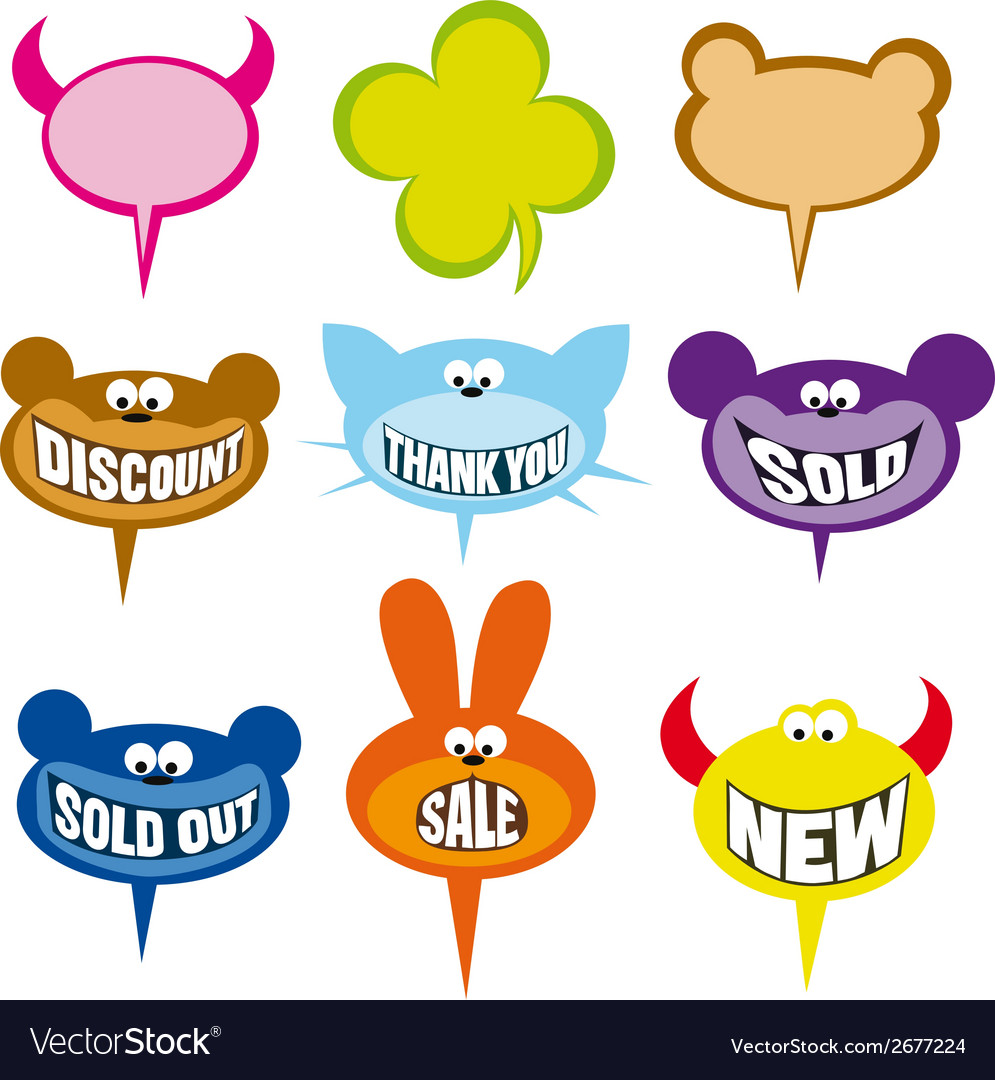 Selling labels and bubbles vector | Price: 1 Credit (USD $1)