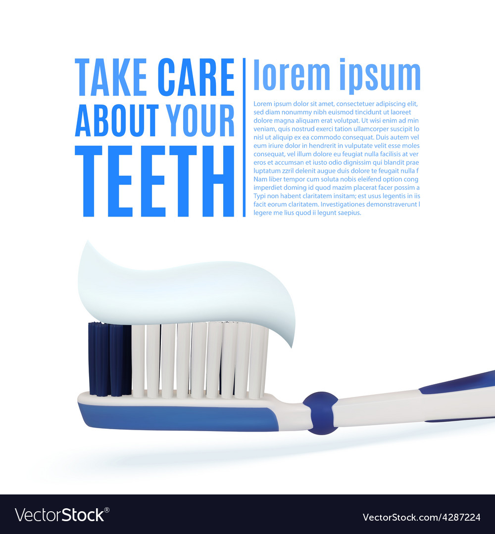 Take care about your teeth dental background vector | Price: 1 Credit (USD $1)