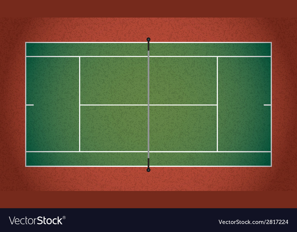Textured realistic tennis court vector | Price: 1 Credit (USD $1)