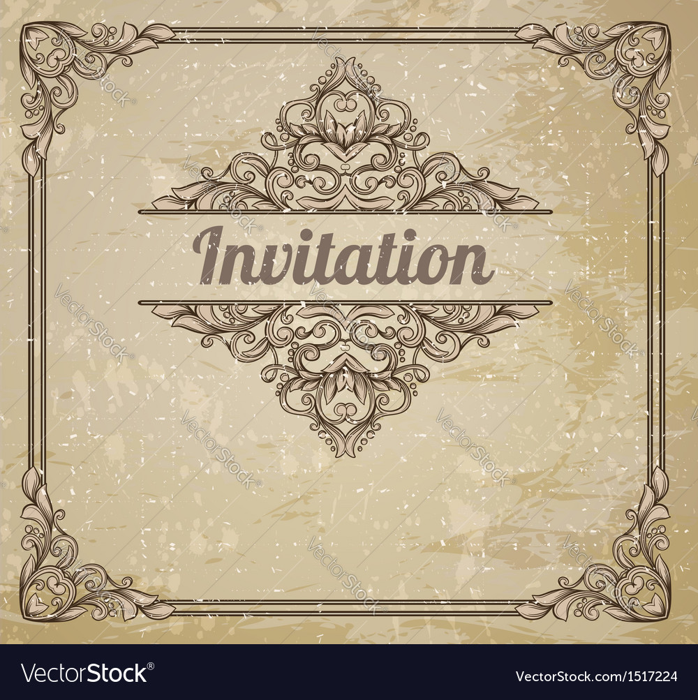 Vintage frame and grungy background vector | Price: 1 Credit (USD $1)