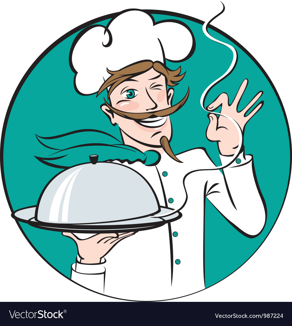 Winking chef vector | Price: 3 Credit (USD $3)