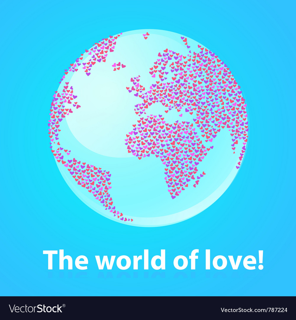World of love vector | Price: 1 Credit (USD $1)