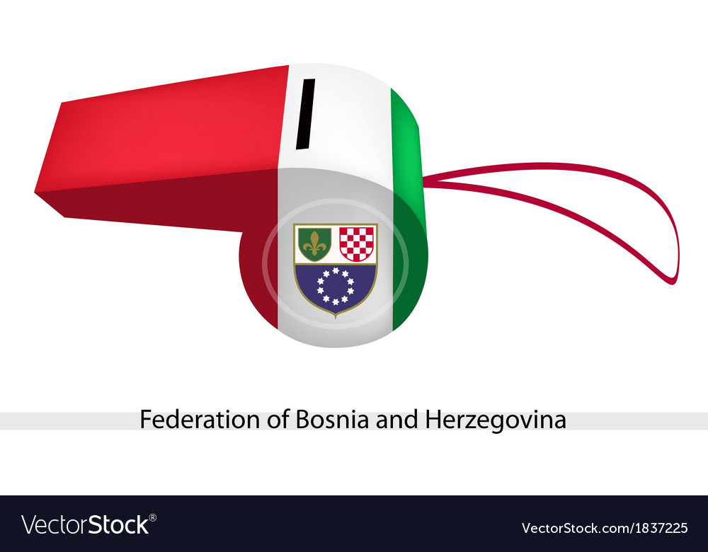 A whistle of federation of bosnia and herzegovina vector | Price: 1 Credit (USD $1)