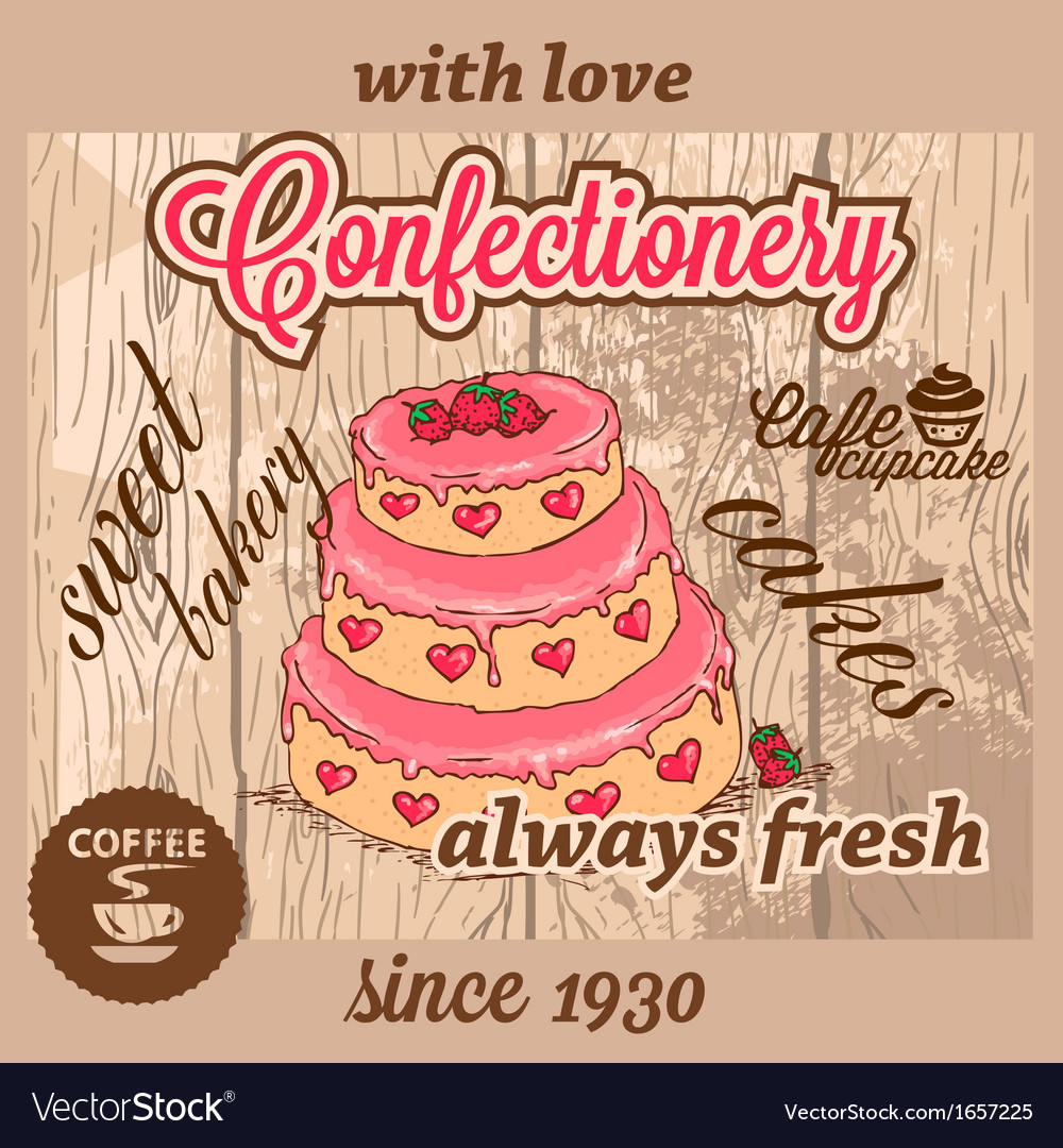 Confectionery dessert menu vector | Price: 1 Credit (USD $1)