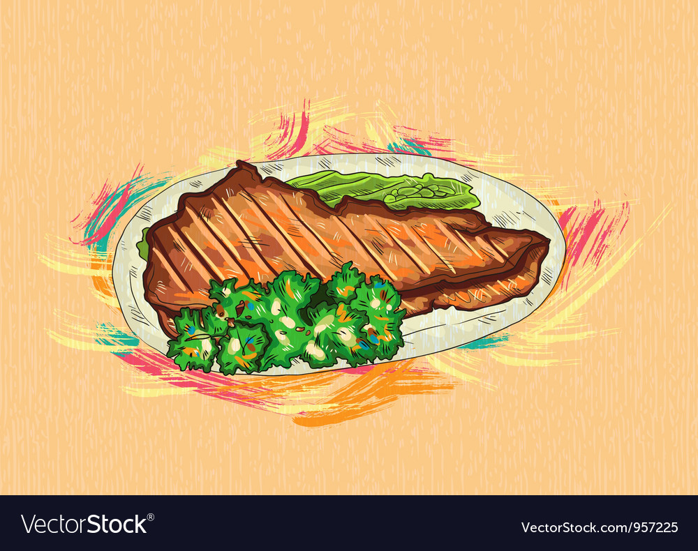 Cooked meat vector | Price: 1 Credit (USD $1)