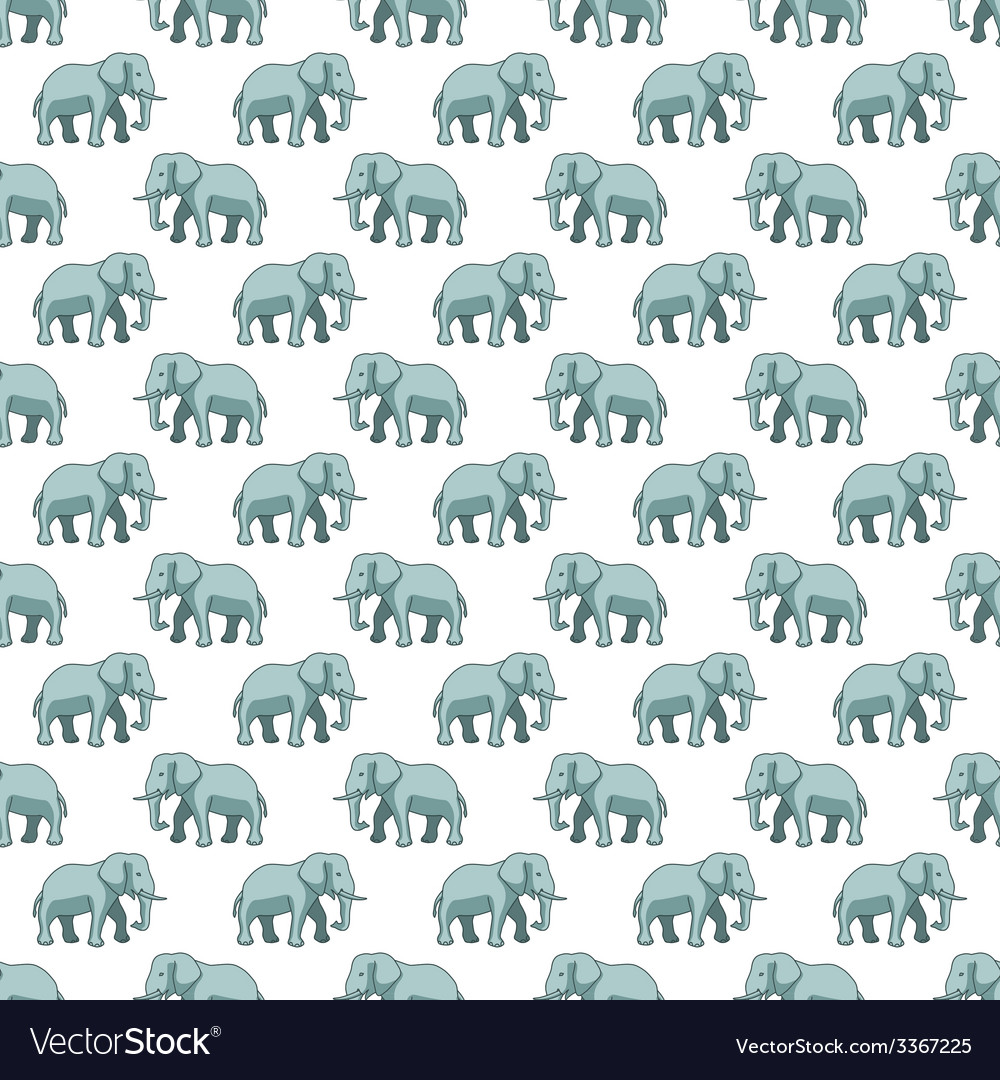 Elephant pattern vector | Price: 1 Credit (USD $1)