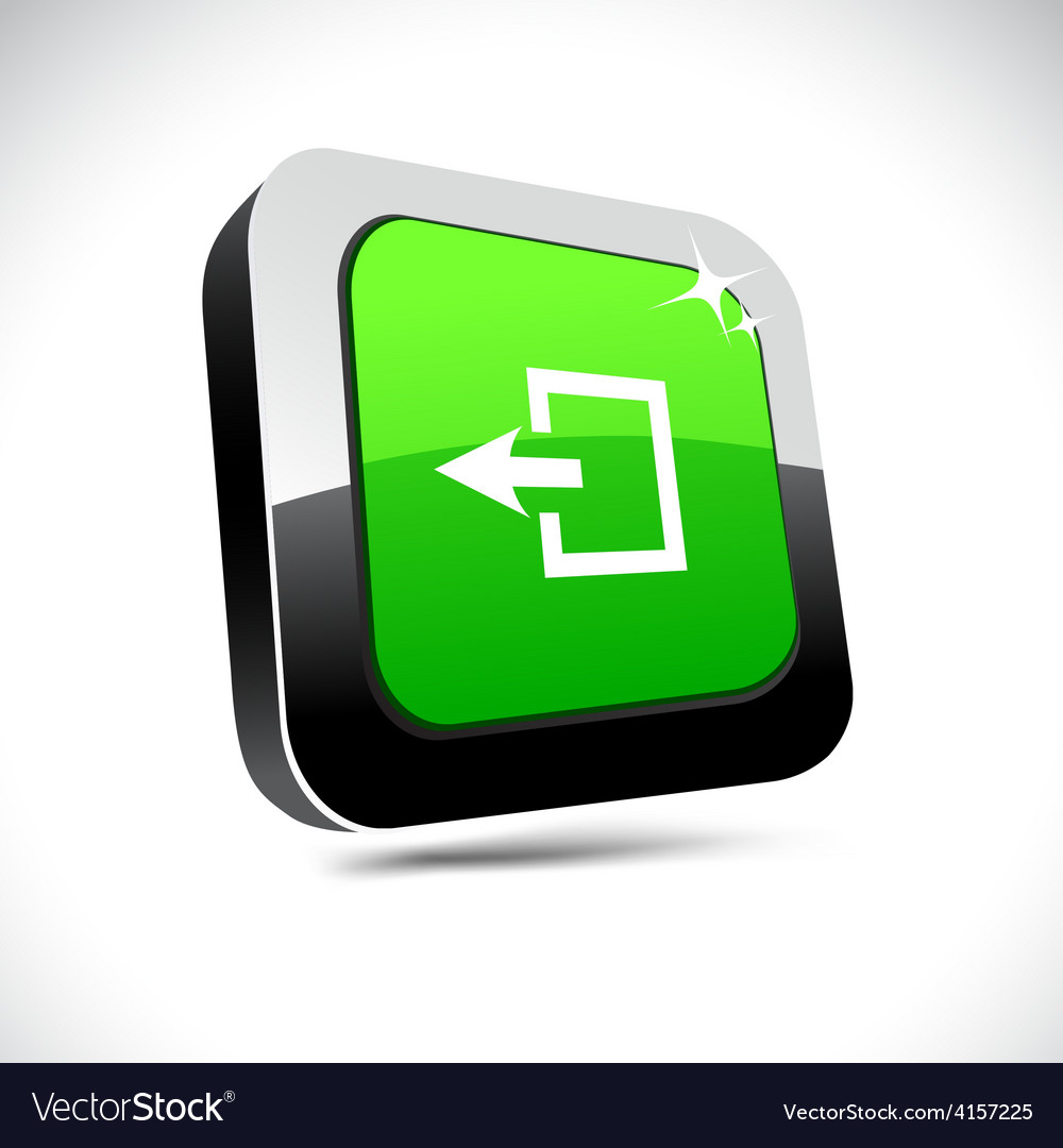 Exit 3d square button vector | Price: 1 Credit (USD $1)