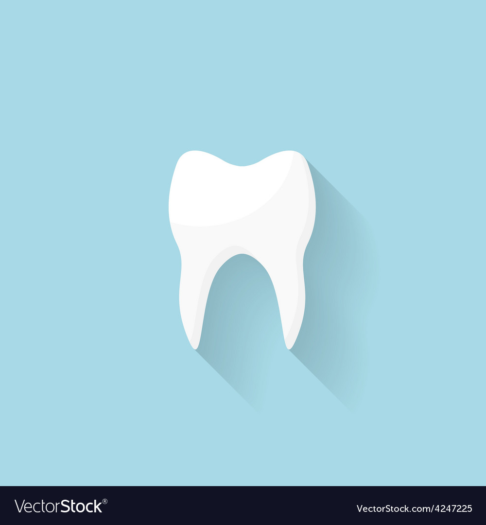 Flat web internet icon tooth vector | Price: 1 Credit (USD $1)