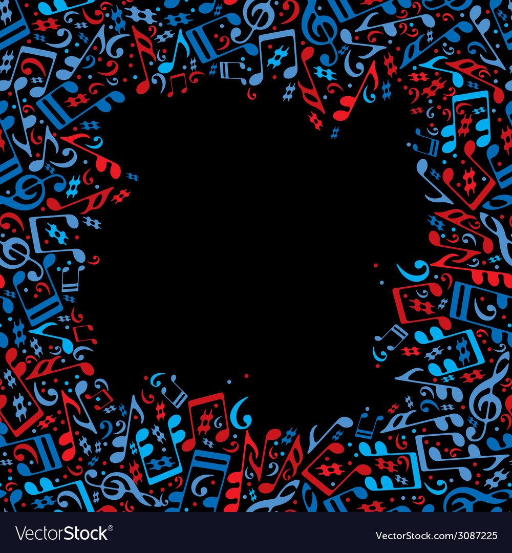Frame made with musical notes vector   Price: 1 Credit (USD $1)