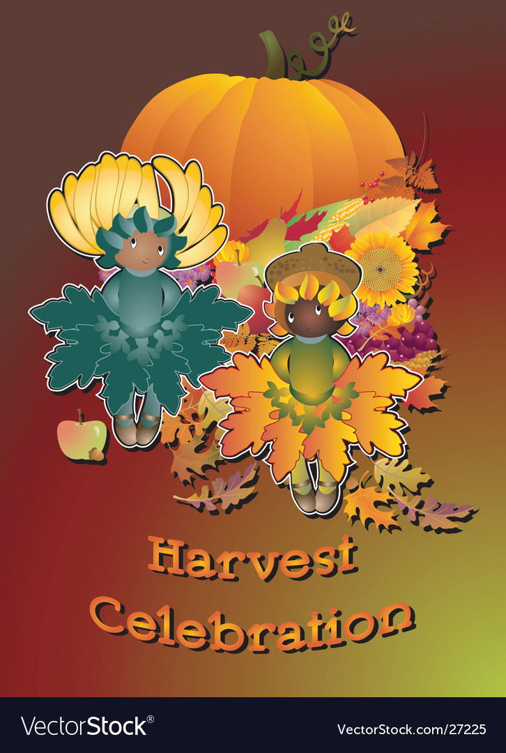 Harvest celebration vector | Price: 3 Credit (USD $3)